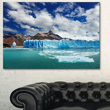 Art mural en métal, glacier Perito Moreno, photographie, 28 x 12 (MT6507-28-12)