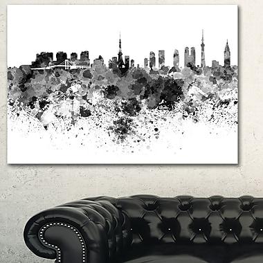 Tokyo Skyline Cityscape Metal Wall Art, 28x12, (MT6511-28-12)