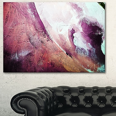 White and Purple Texture Abstract Metal Wall Art, 28x12, (MT6512-28-12)