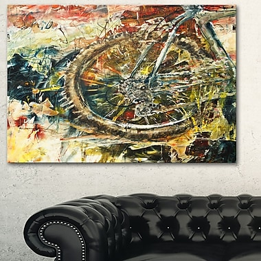 Mountain Bike Oil Painting Metal Wall Art, 28x12, (MT6529-28-12)