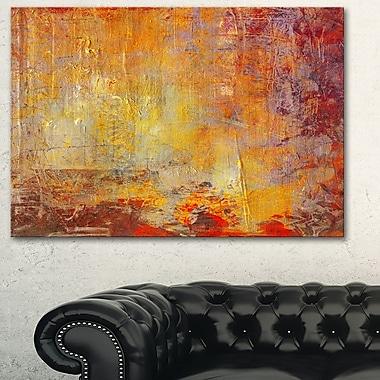 Art mural abstrait en métal, mouchetures d'ambiance, 28 x 12 po, (MT6531-28-12)