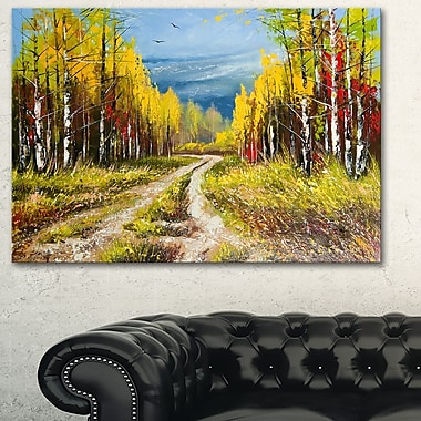 Golden Autumn Landscape Metal Wall Art, 28x12, (MT6532-28-12)