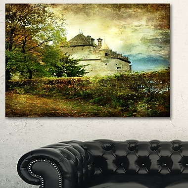 Chillion Castle Landscape Metal Wall Art, 28x12, (MT6533-28-12)