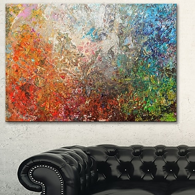 Board Stained Abstract Art, Abstract Metal Wall Art, 28x12, (MT6548-28-12)