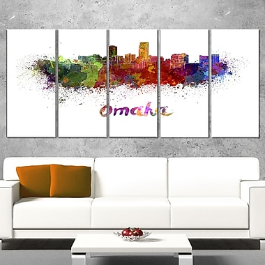 Omaha Skyline Cityscape Metal Wall Art