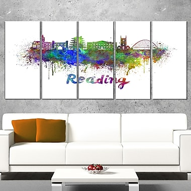 Reading Skyline Cityscape Metal Wall Art