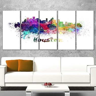 Houston Skyline Cityscape Metal Wall Art