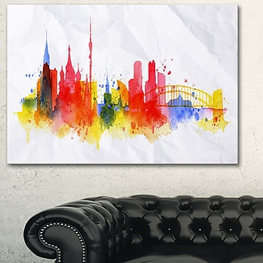 Moscow Skyline Cityscape Metal Wall Art, 28x12, (MT6556-28-12)
