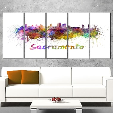 Sacramento Skyline Cityscape Metal Wall Art