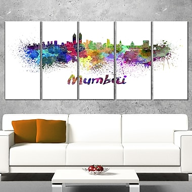 Mumbai Skyline Cityscape Metal Wall Art, 60x28, 5 Panels, (MT6559-401)