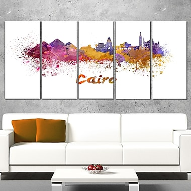 Cairo Skyline Cityscape Metal Wall Art, 60x28, 5 Panels, (MT6560-401)