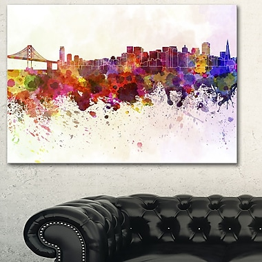 San Francisco Skyline Cityscape Metal Wall Art, 28x12, (MT6561-28-12)