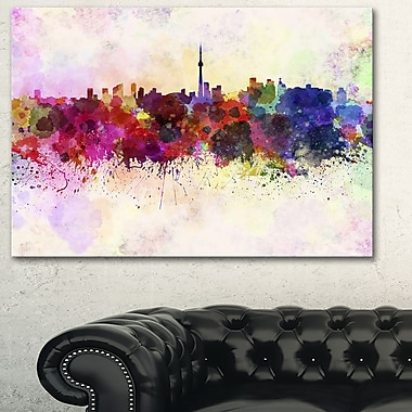 Toronto Skyline Cityscape Metal Wall Art, 28x12, (MT6564-28-12)
