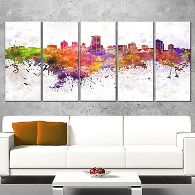 Milwaukee Skyline Cityscape Metal Wall Art