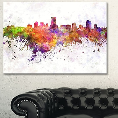 Milwaukee Skyline Cityscape Metal Wall Art, 28x12, (MT6568-28-12)