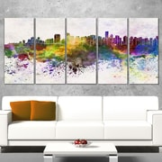 Vancouver Skyline Cityscape Wall Art