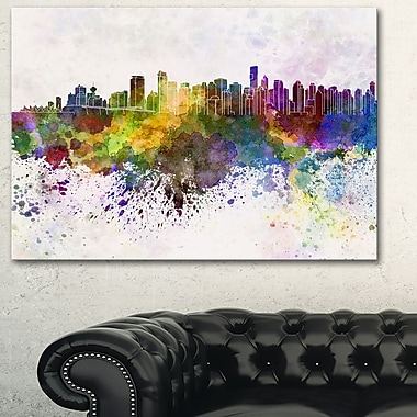 Vancouver Skyline Cityscape Metal Wall Art, 28x12, (MT6570-28-12)