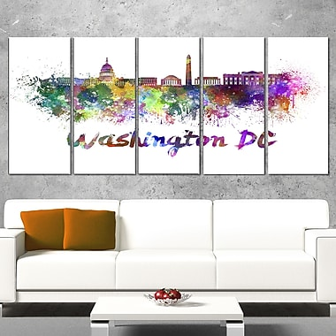 Washington DC Skyline Cityscape Metal Wall Art