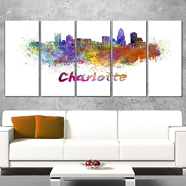 Charlotte Skyline Cityscape Metal Wall Art