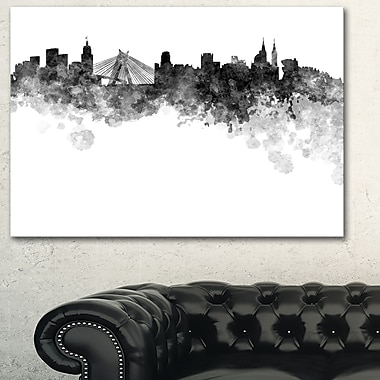 Sao Paulo Skyline Cityscape Metal Wall Art, 28x12, (MT6585-28-12)