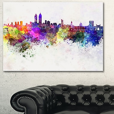 Mumbai Skyline Cityscape Metal Wall Art, 28x12, (MT6589-28-12)