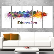 Edmonton Skyline Cityscape Metal Wall Art