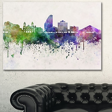 San Jose Skyline Cityscape Metal Wall Art, 28x12, (MT6599-28-12)
