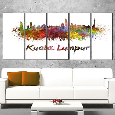 Kuala Lumpur Skyline Cityscape Metal Wall Art, 60x28, 5 Panels, (MT6603-401)