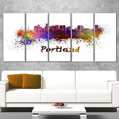 Portland Skyline Cityscape Metal Wall Art