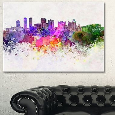Colombo Skyline Cityscape Metal Wall Art, 28x12, (MT6607-28-12)