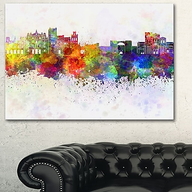 Avila Skyline Cityscape Metal Wall Art, 28x12, (MT6609-28-12)