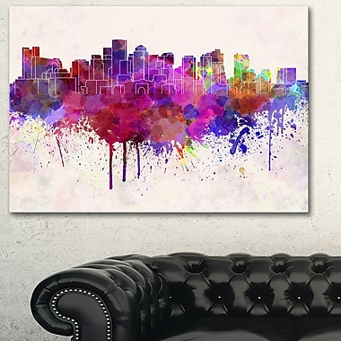 Boston Skyline Cityscape Metal Wall Art, 28x12, (MT6610-28-12)