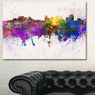 Salt Lake City Skyline Cityscape Metal Wall Art, 28x12, (MT6612-28-12)