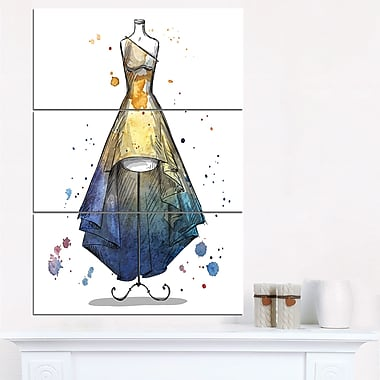 Mannequin with Long Dress Digital Metal Wall Art