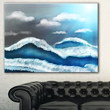 Ciel bleu avec nuages, art mural en métal, 28 x 12 (MT7641-28-12)