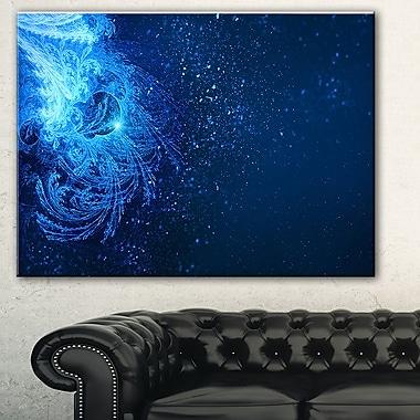 Illustration numérique de chute de neige bleue, art mural en métal, 28 x 12, (MT7718-28-12)