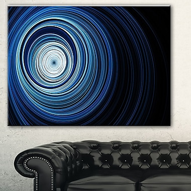 Endless Tunnel Light Blue Ripples Metal Wall Art, 28x12, (MT7724-28-12)