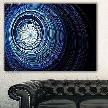 Tunnel sans fin aux ondulations bleu pâle, art mural abstrait en métal, 28 x 12, (MT7724-28-12)
