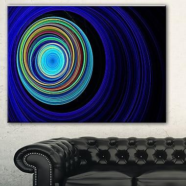 Tunnel sans fin aux ondulations bleues, art mural abstrait en métal, 28 x 12, (MT7725-28-12)