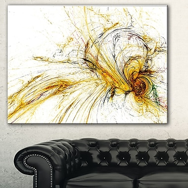 Yellow Spiral Galaxy Abstract Metal Wall Art, 28x12, (MT7727-28-12)