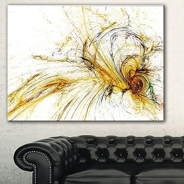 Galaxie spiralée jaune, art mural abstrait en métal, 28 x 12, (MT7727-28-12)