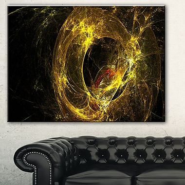 Far Spherical Galaxy Golden Abstract Metal Wall Art, 28x12, (MT7728-28-12)