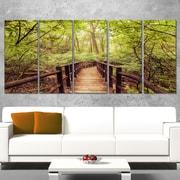 Art mural en métal, photo paysage de la jungle dans un style rétro, 60 x 28 po, 5 panneaux, (MT8291-401)