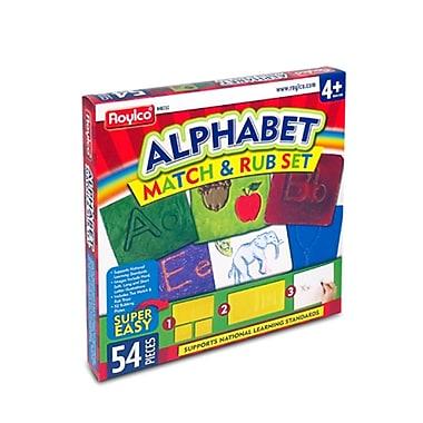 Roylco – Ensemble Alphabet Match & Rub R48232, 54 pièces, 20 dans l'étui de l'ensemble