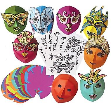 Roylco – Masques de Mardi gras colorés R52081, 54 pièces