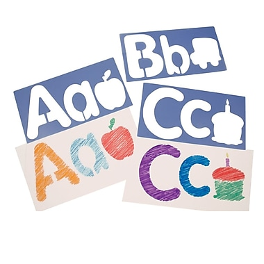 Roylco - Pochoirs pour gros alphabet et image, 26/paquet (R5618)