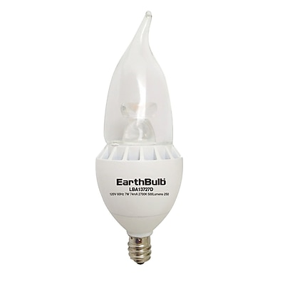 EarthBulb® BA13 7W 500LM 2700K Bent CL Dimmable 6 Pack
