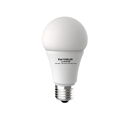 EarthBulb® A19 7W 480LM 5000K 300 degree Dimmable 6 Pack
