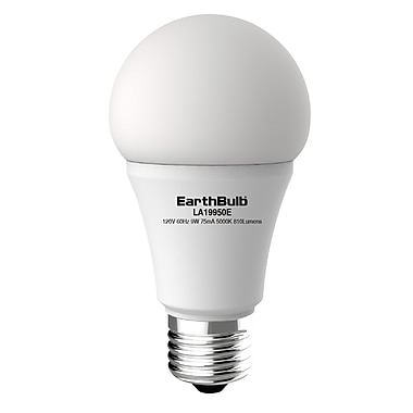 EarthBulb® A19 9W 810LM 5000K 300 degree Dimmable 6 Pack