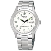 Lorus RXN67A Stainless Steel 3-Hand Day-Date Dress, 38mm Watch